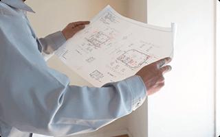 紀陽の耐震診断 建物の形を調査