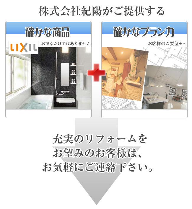 株式会社紀陽のリフォームをお望みの方は、お気軽にご連絡ください。